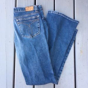 90s does 70s CALViN KLEIN jeans. vintage flare 8